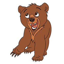 How to Draw Koda from Brother Bear
