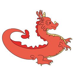 How to Draw a Chinese Dragon for Kids