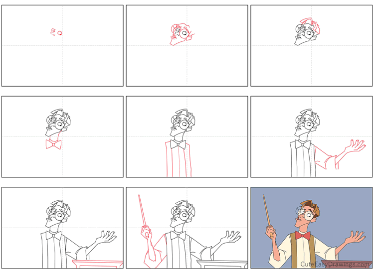 How to Draw Milo from Atlantis The Lost Empire