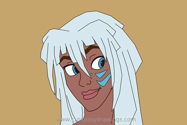 How to Draw Kida from Atlantis The Lost Empire