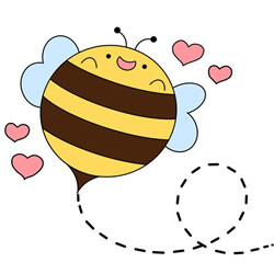 How to Draw a Valentine's Day Bee