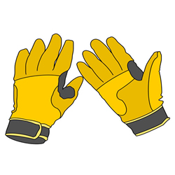 How to Draw Sports Gloves