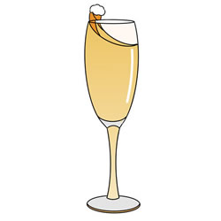 How to Draw a Glass of Champagne