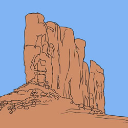 How to Draw Monument Valley