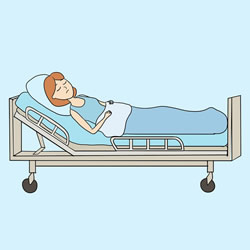 How to Draw a Patient in a Hospital Bed