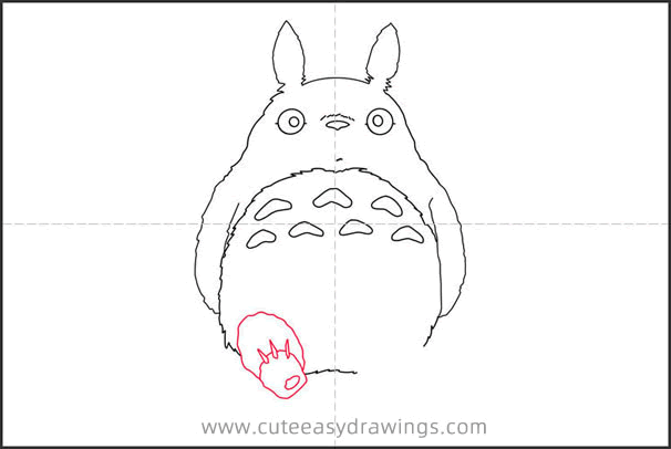 How to Draw Totoro Sitting
