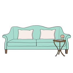 How to Draw a Love Seat