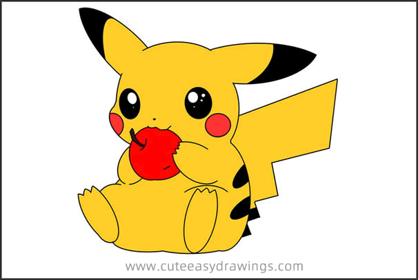 How to Draw Pikachu Eating