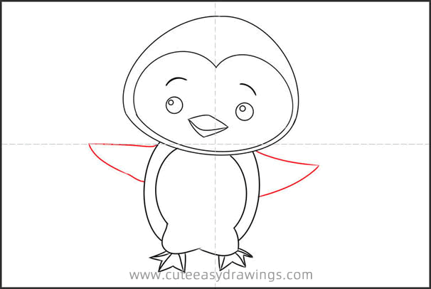 How to Draw a Cute Little Penguin
