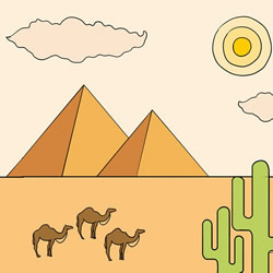 How to Draw Egyptian Pyramids