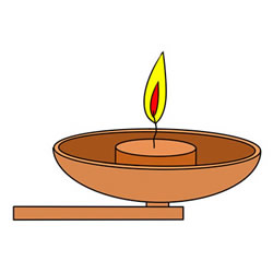 How to Draw an Oil Lamp
