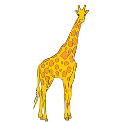How to Draw a Giraffe Standing