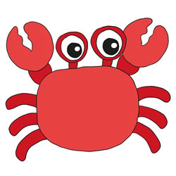 How to Draw a Cute Crab