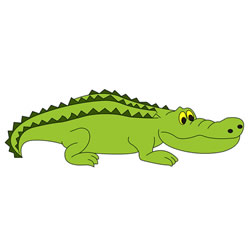 How to Draw a Crocodile on Land