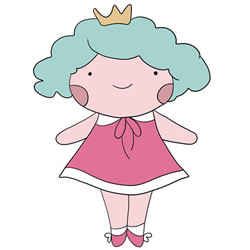 How to Draw a Princess Doll