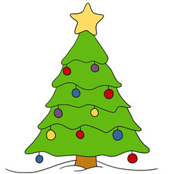 How to Draw a Christmas Tree for Kids