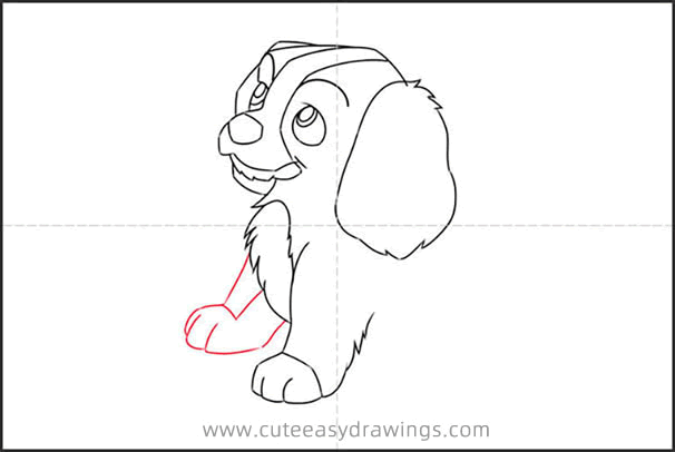 How to Draw Lady from Lady and the Tramp