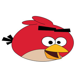 How to Draw Red from Angry Birds