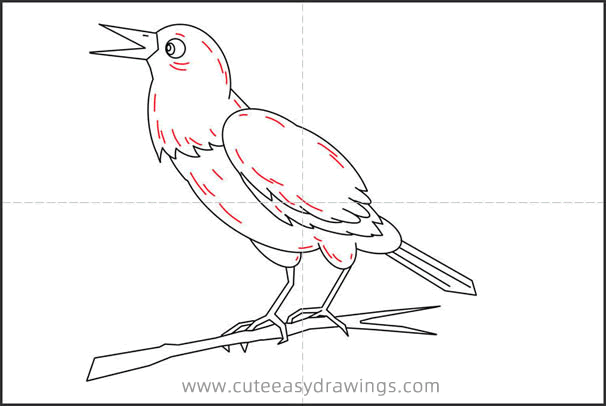 How to Draw a Raven on Branch