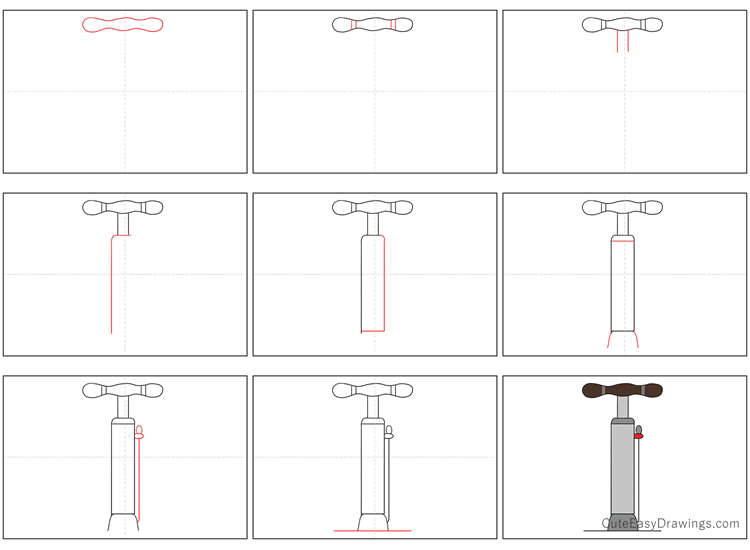 How to Draw a Pump