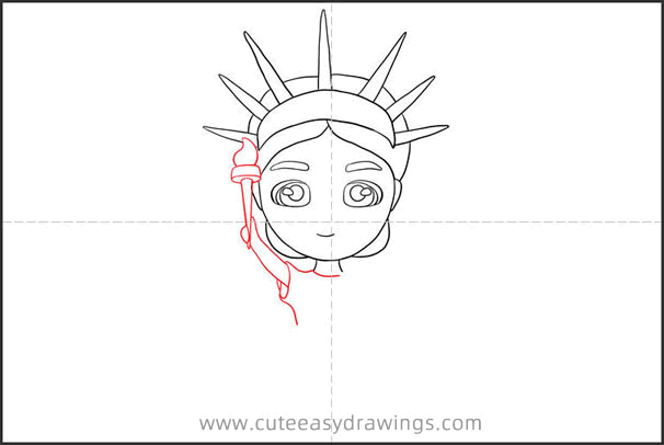 How to Draw Cartoon Statue of Liberty