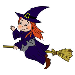 How to Draw a Witch on a Broomstick
