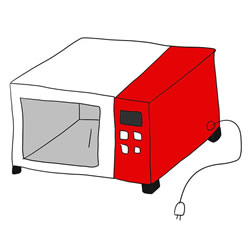 How to Draw a Microwave Oven