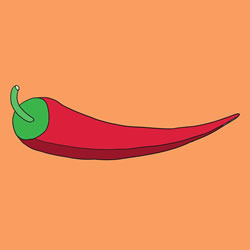 How to Draw a Pepper for Kids