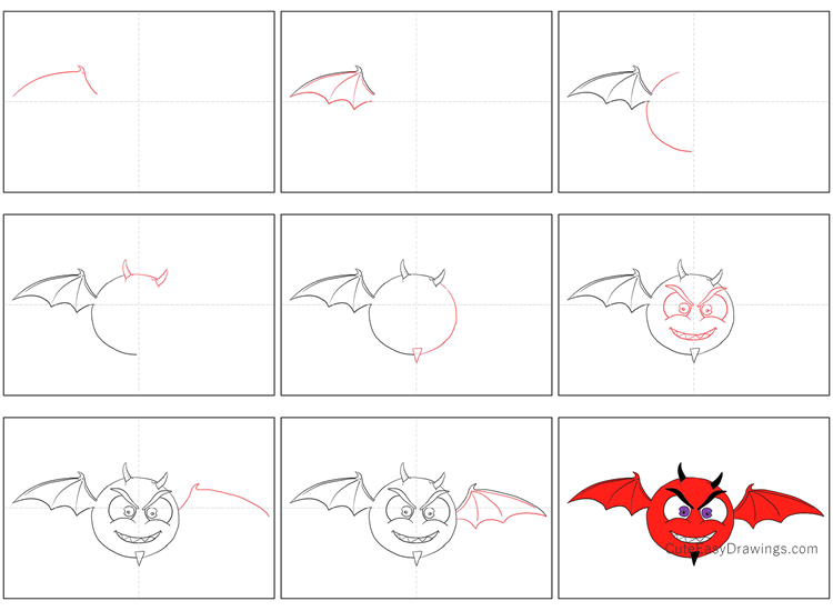 How to Draw a Demon Bat