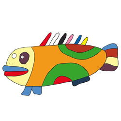 How to Draw a Funny Fish