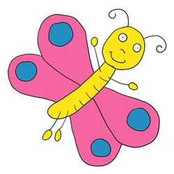 How to Draw a Funny Butterfly