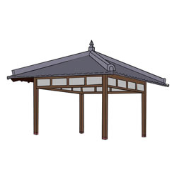 How to Draw a Realistic Pavilion