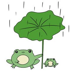 How to Draw Mother Frog with Baby