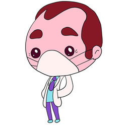 How to Draw a Cartoon Doctor