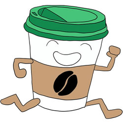 How to Draw a Cup of Cartoon Coffee